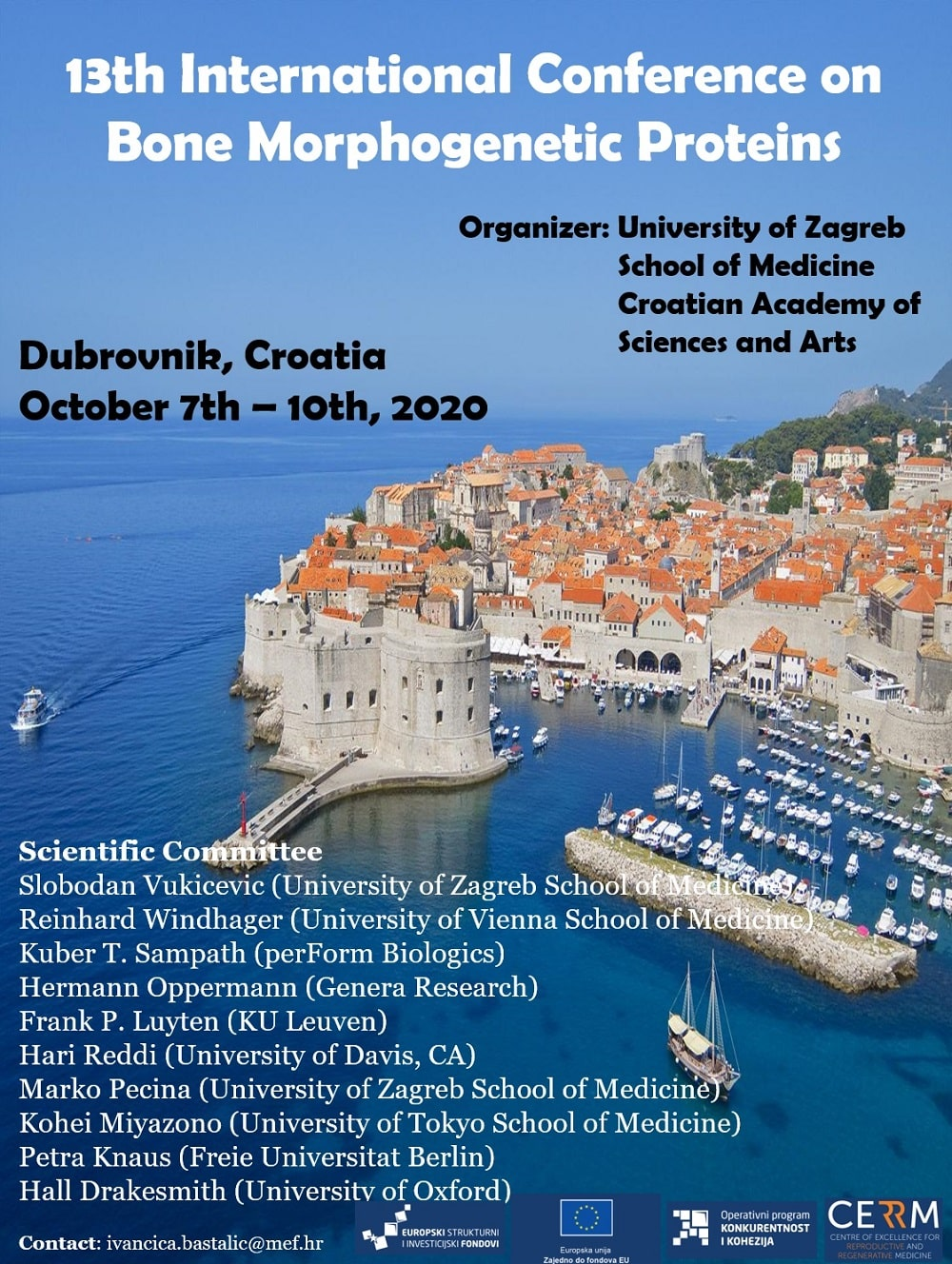 13th International Bone Morphogenetic Protein Conference in Dubrovnik - 2020